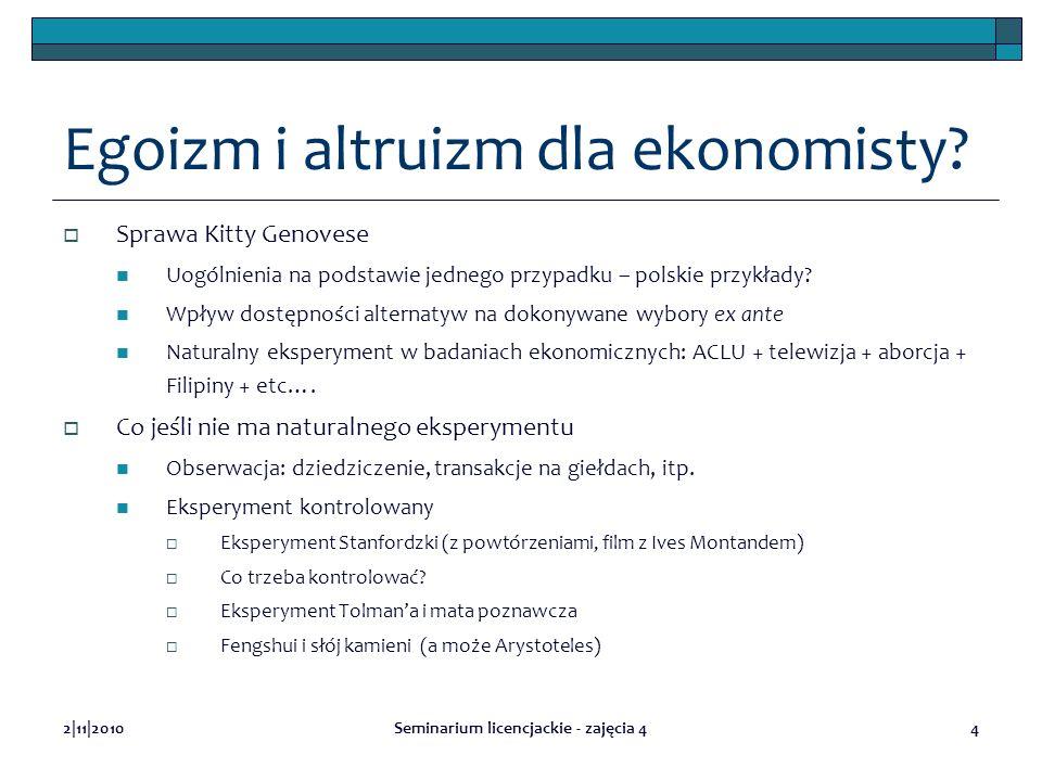 Egoizm i altruizm dla ekonomisty
