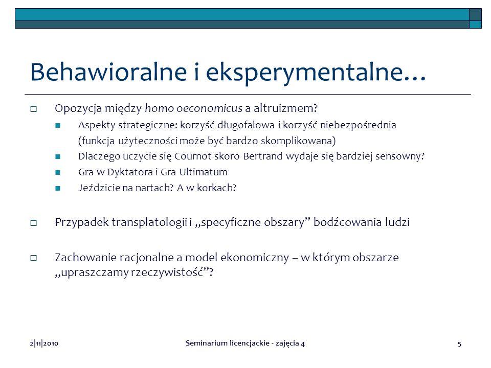 Behawioralne i eksperymentalne…