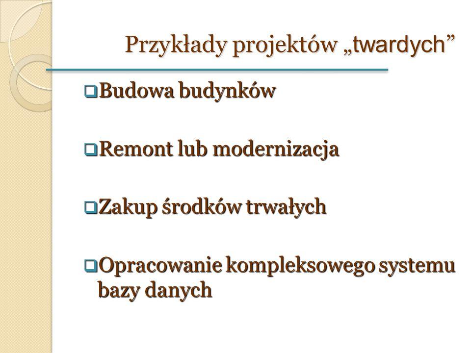 """Przykłady projektów """"twardych"""