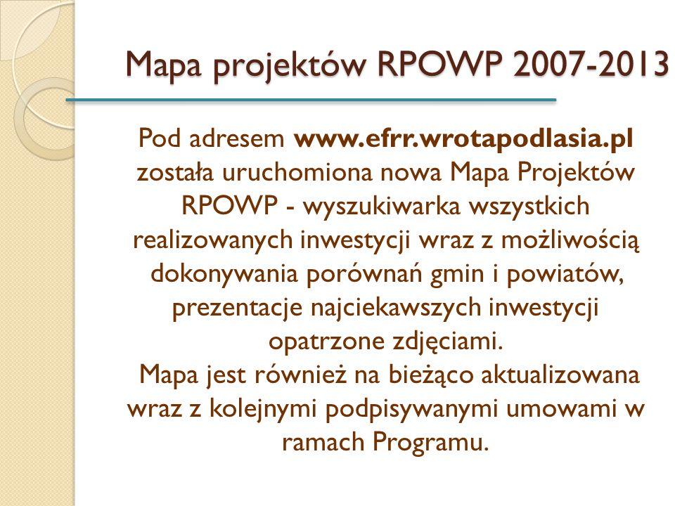 Mapa projektów RPOWP 2007-2013