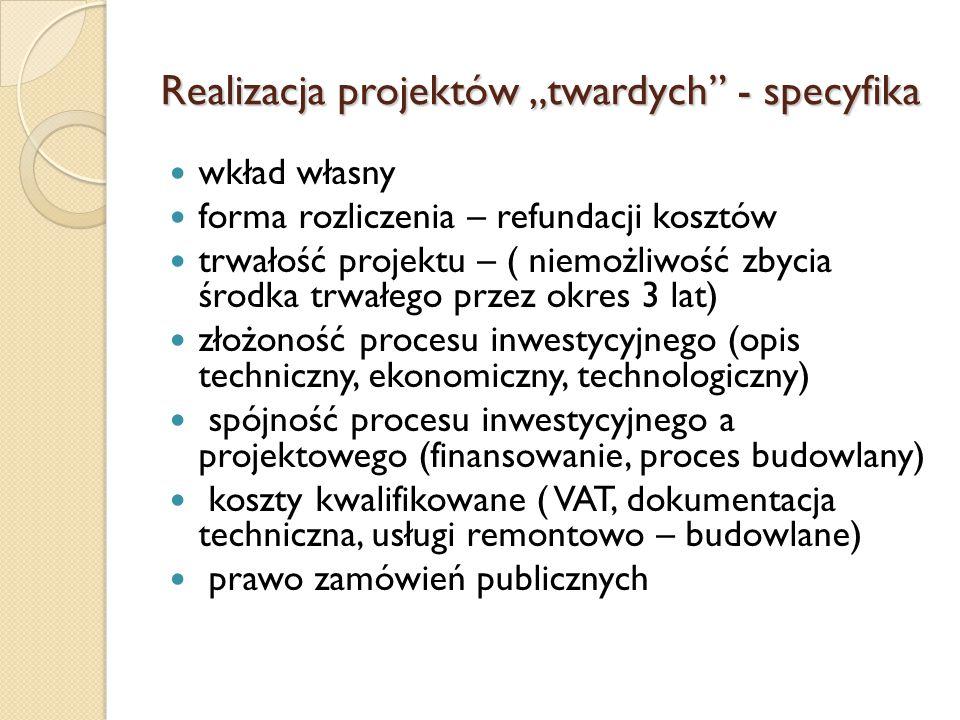 """Realizacja projektów """"twardych - specyfika"""