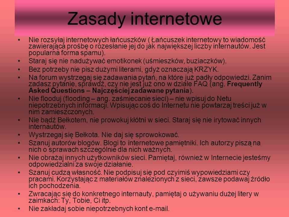 Zasady internetowe