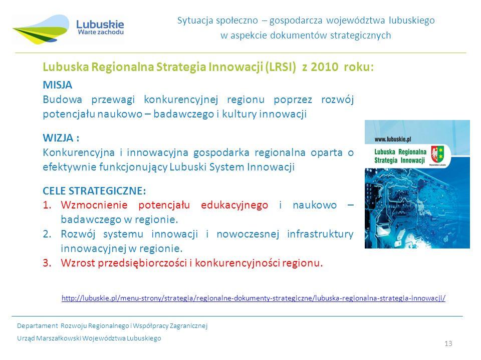Lubuska Regionalna Strategia Innowacji (LRSI) z 2010 roku: