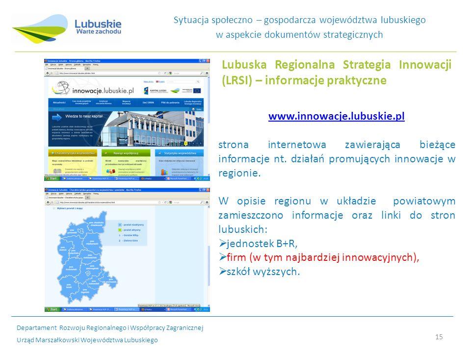 Lubuska Regionalna Strategia Innowacji (LRSI) – informacje praktyczne