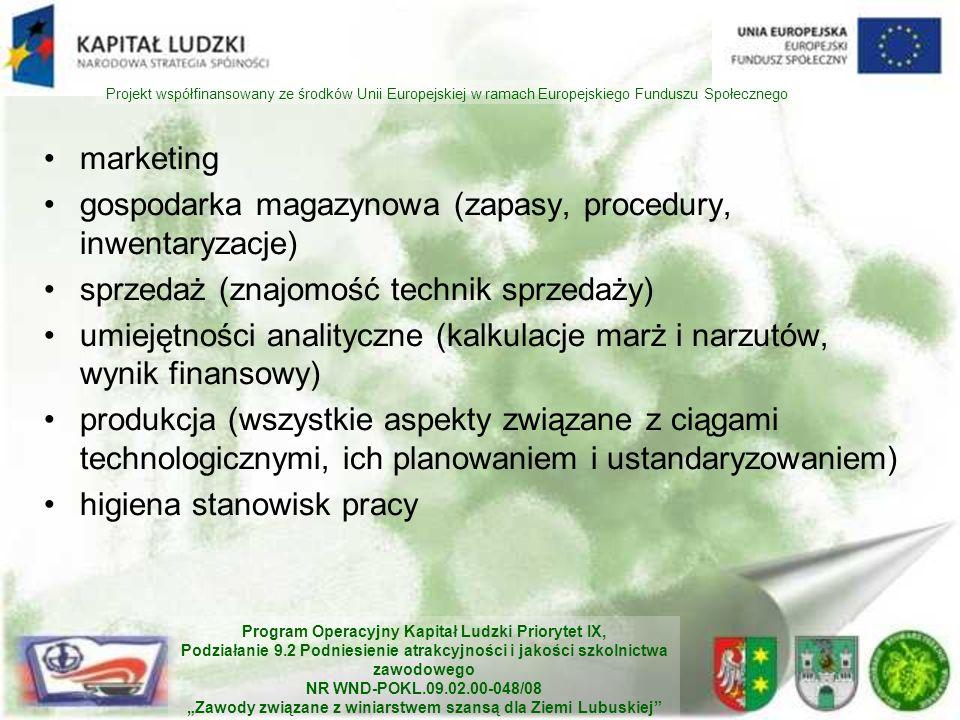 gospodarka magazynowa (zapasy, procedury, inwentaryzacje)