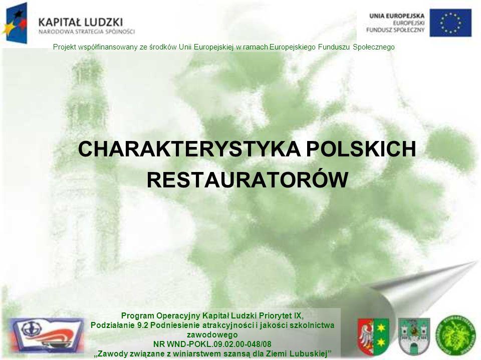 CHARAKTERYSTYKA POLSKICH RESTAURATORÓW