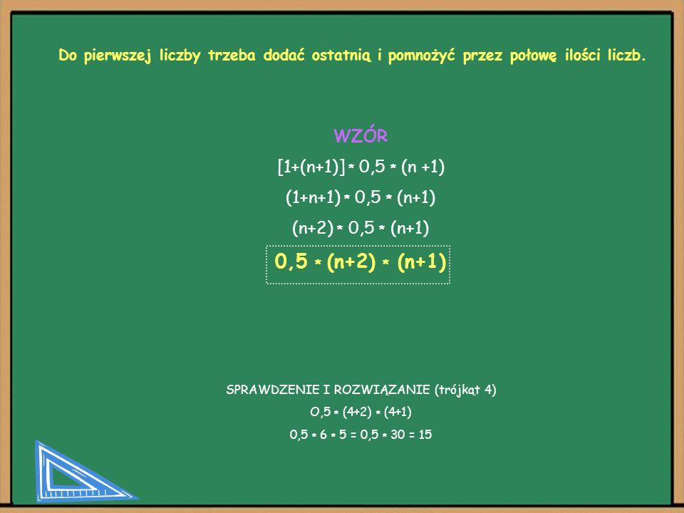SPRAWDZENIE I ROZWIĄZANIE (trójkąt 4)