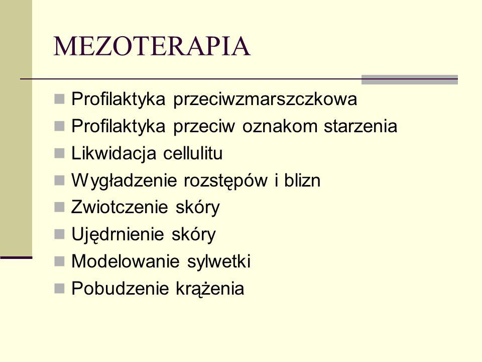 MEZOTERAPIA Profilaktyka przeciwzmarszczkowa