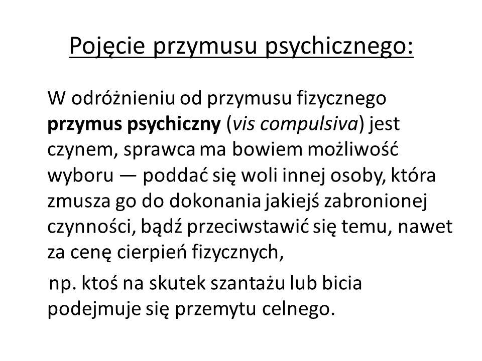 Pojęcie przymusu psychicznego: