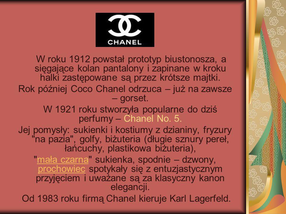 Rok później Coco Chanel odrzuca – już na zawsze – gorset.