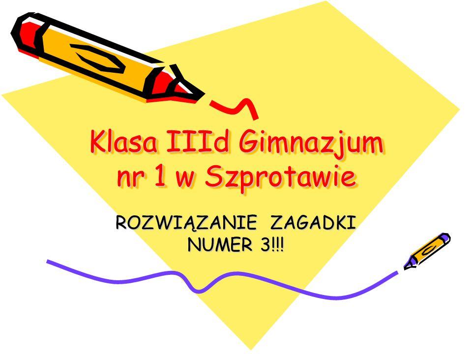 Klasa IIId Gimnazjum nr 1 w Szprotawie