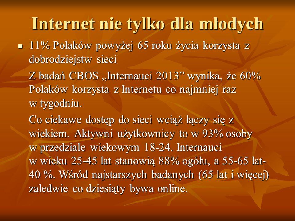 Internet nie tylko dla młodych