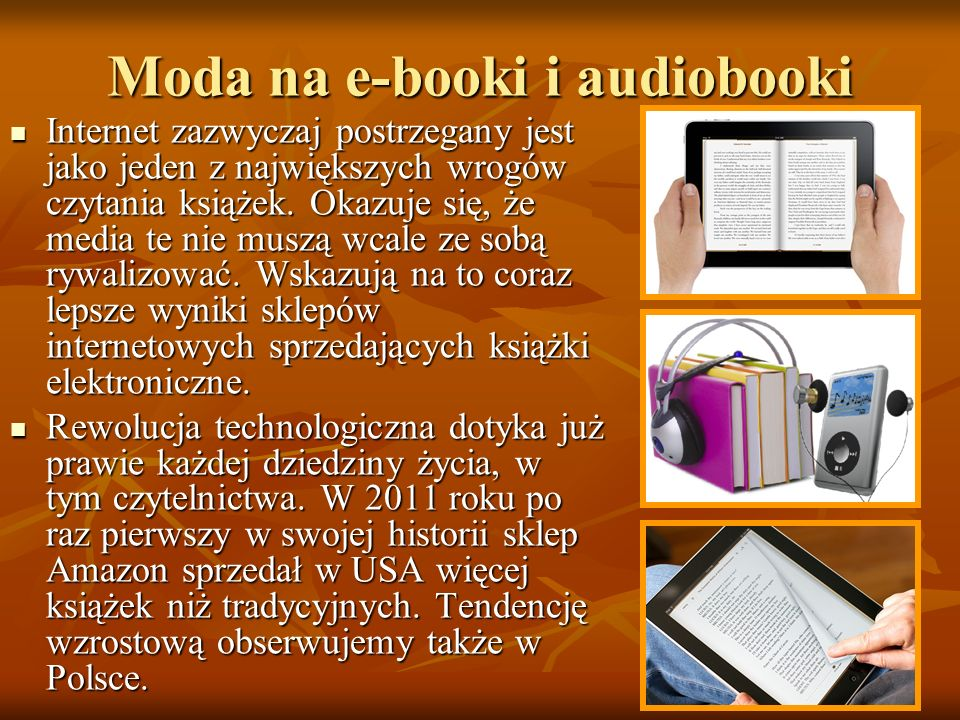 Moda na e-booki i audiobooki
