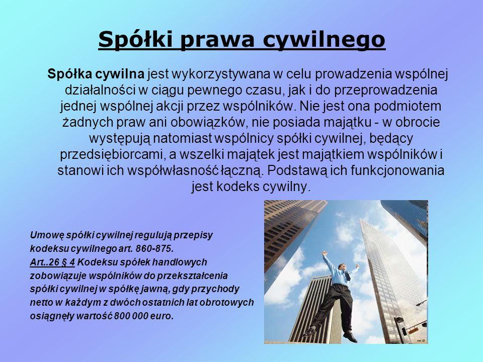 Spółki prawa cywilnego