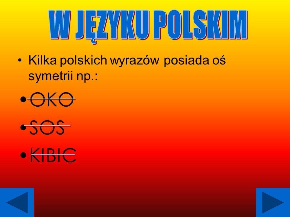 OKO SOS KIBIC W JĘZYKU POLSKIM