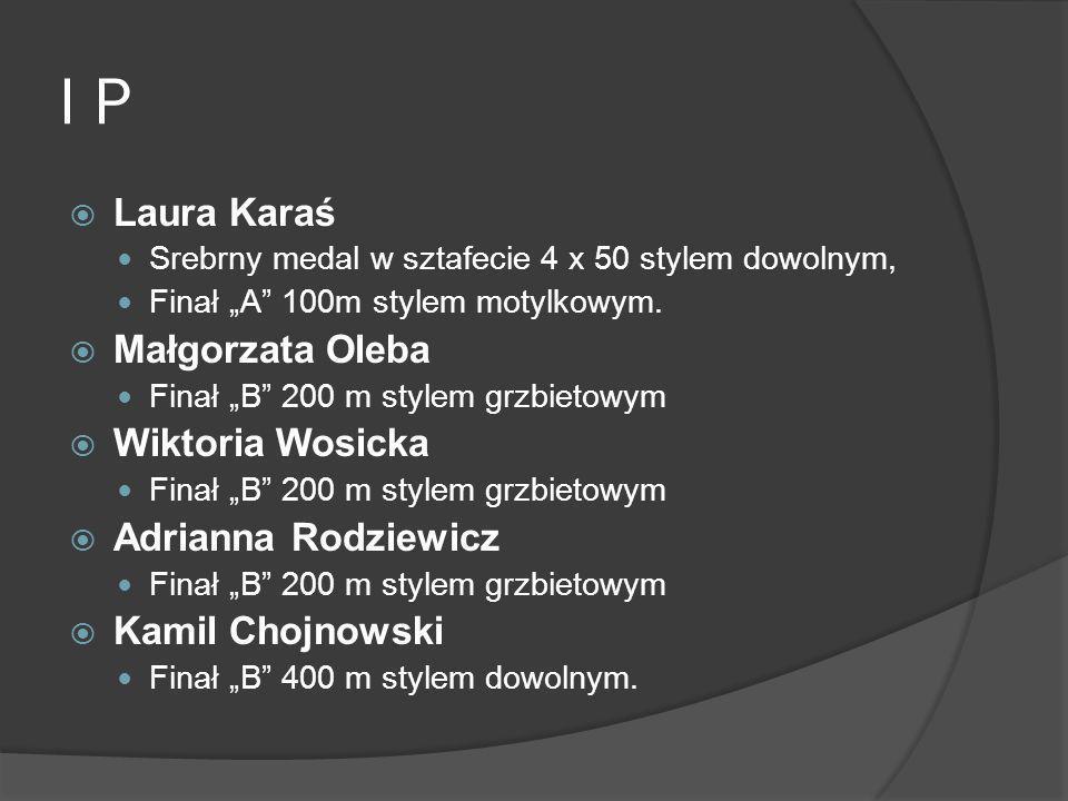 I P Laura Karaś Małgorzata Oleba Wiktoria Wosicka Adrianna Rodziewicz
