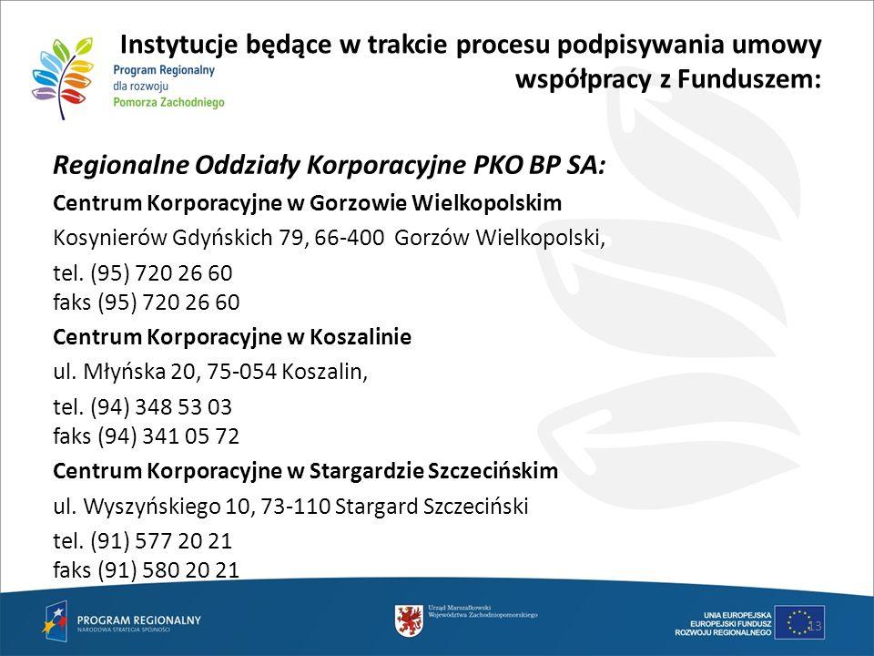 Regionalne Oddziały Korporacyjne PKO BP SA: