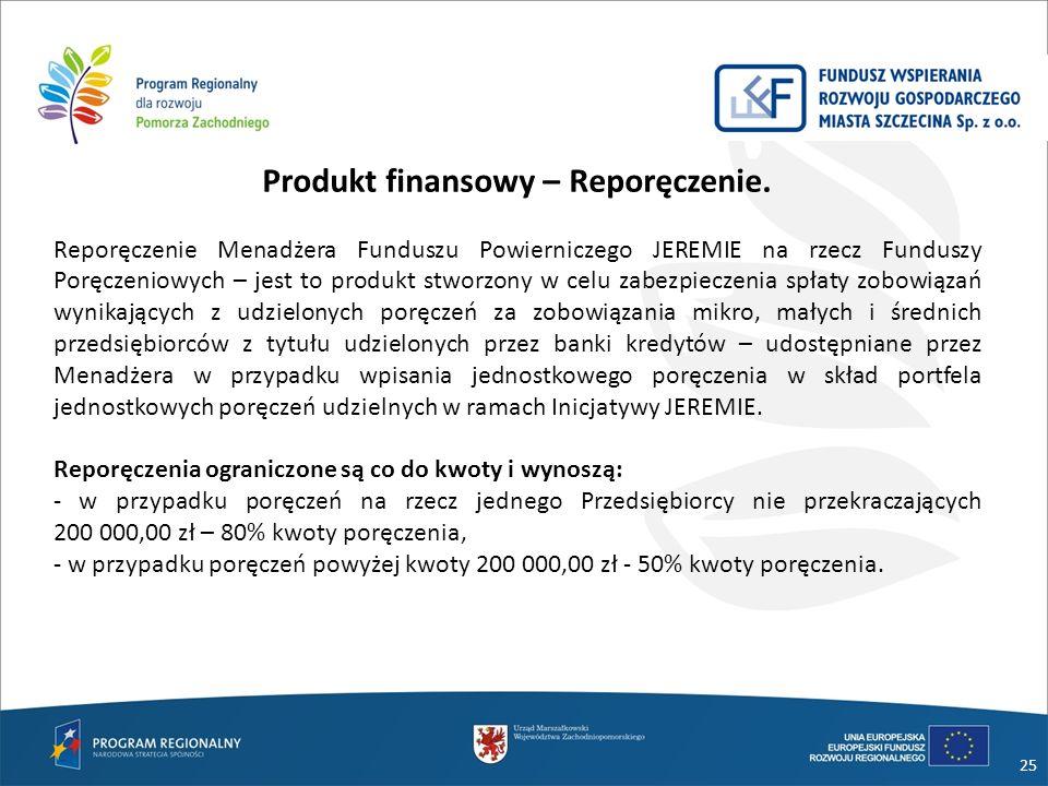 Produkt finansowy – Reporęczenie.