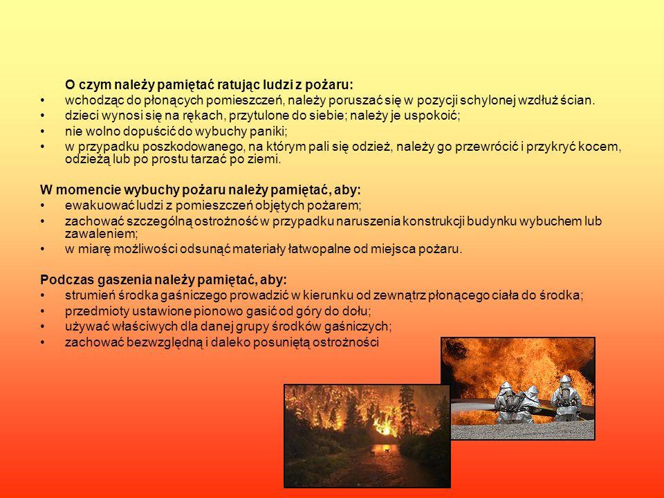 O czym należy pamiętać ratując ludzi z pożaru:
