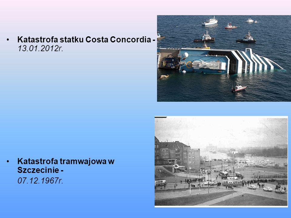 Katastrofa statku Costa Concordia - 13.01.2012r.