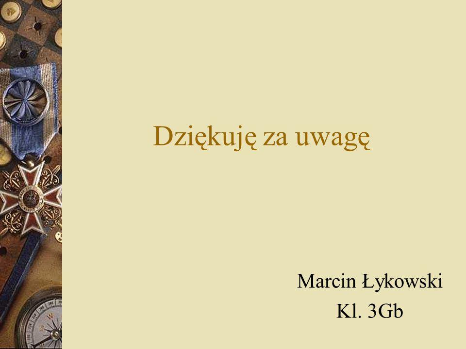 Dziękuję za uwagę Marcin Łykowski Kl. 3Gb