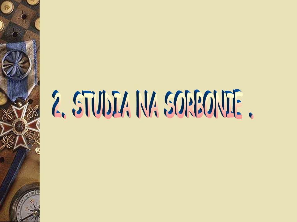 2. STUDIA NA SORBONIE .