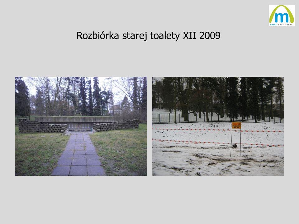 Rozbiórka starej toalety XII 2009