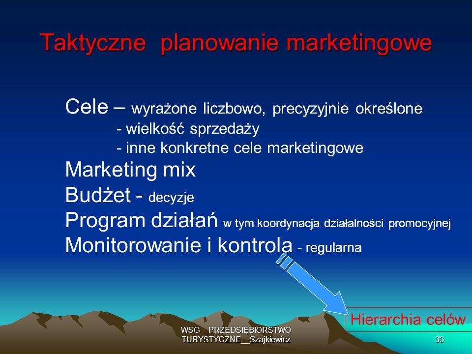 Taktyczne planowanie marketingowe