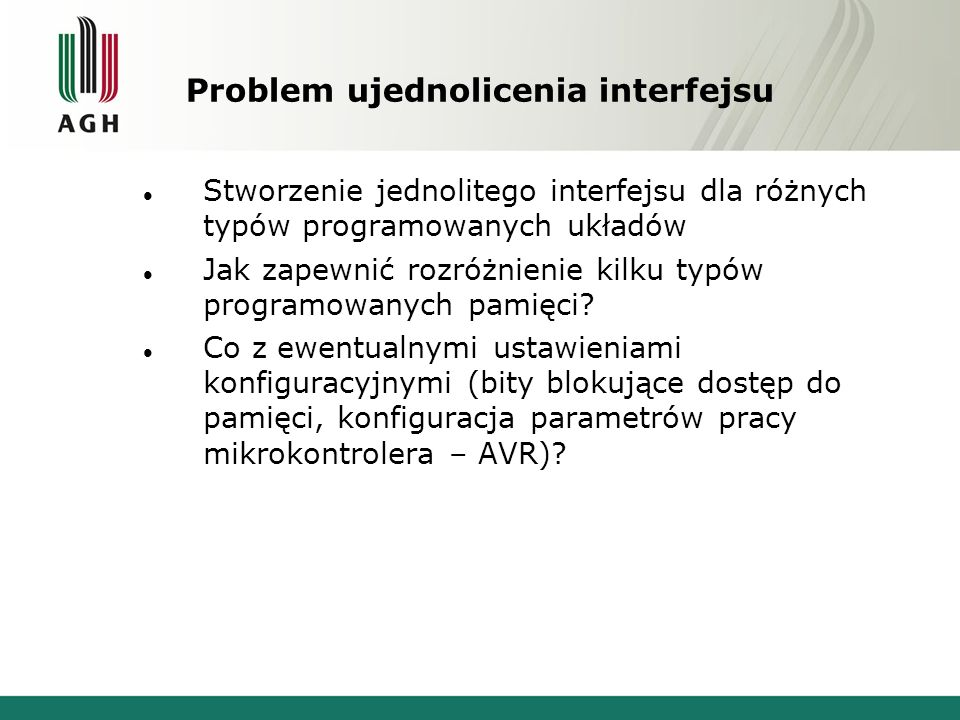 Problem ujednolicenia interfejsu