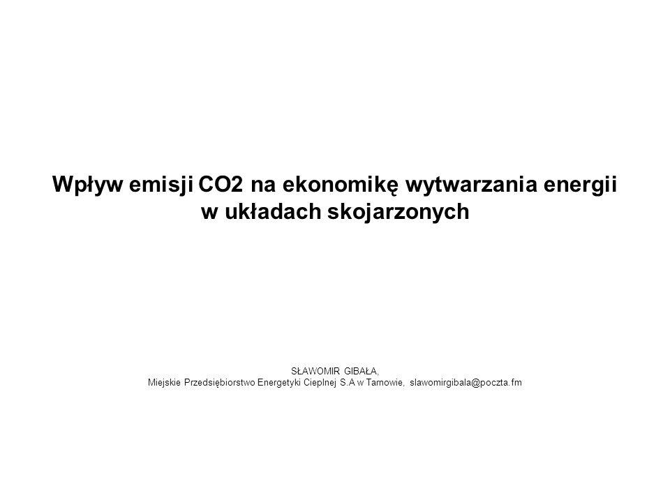 Wpływ emisji CO2 na ekonomikę wytwarzania energii