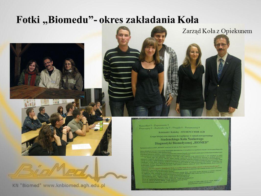 """Fotki """"Biomedu - okres zakładania Koła"""