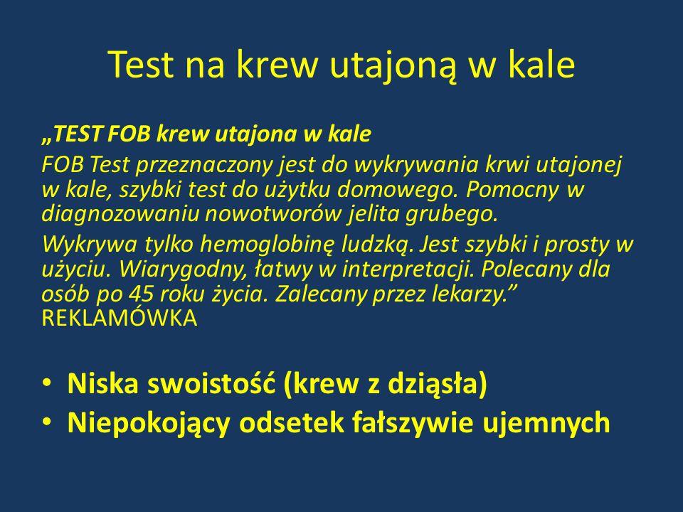 Test na krew utajoną w kale