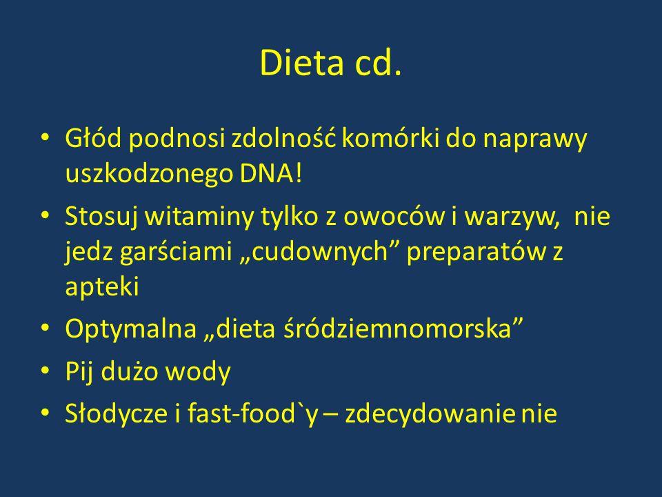 Dieta cd. Głód podnosi zdolność komórki do naprawy uszkodzonego DNA!