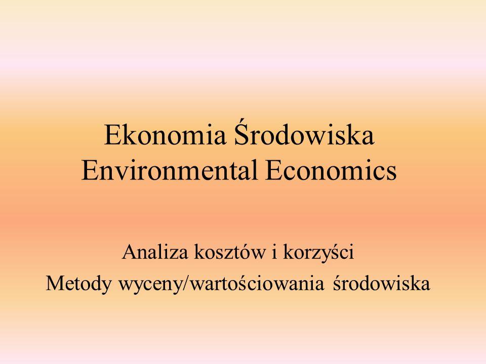 Ekonomia Środowiska Environmental Economics