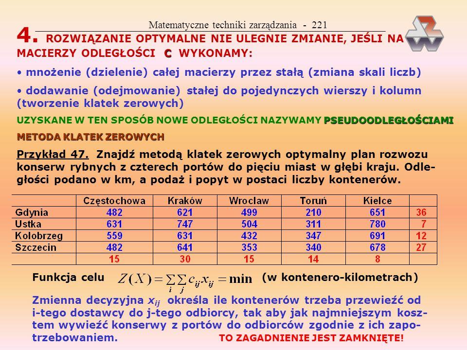 Matematyczne techniki zarządzania - 221