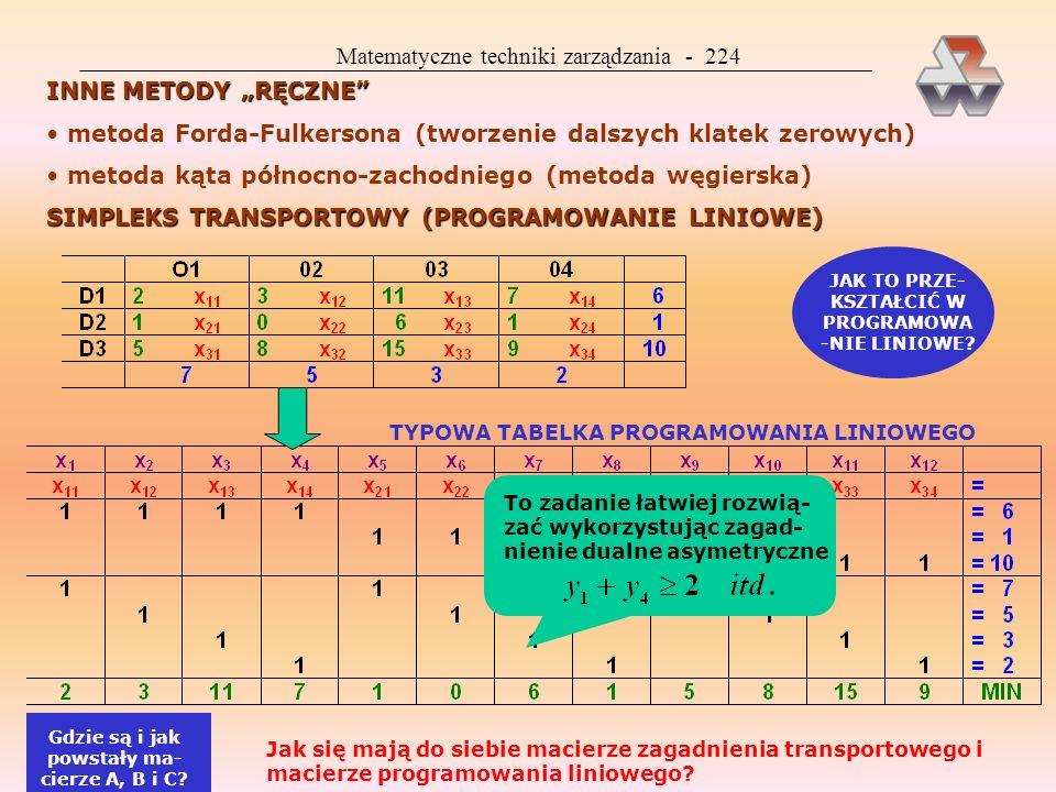 Matematyczne techniki zarządzania - 224