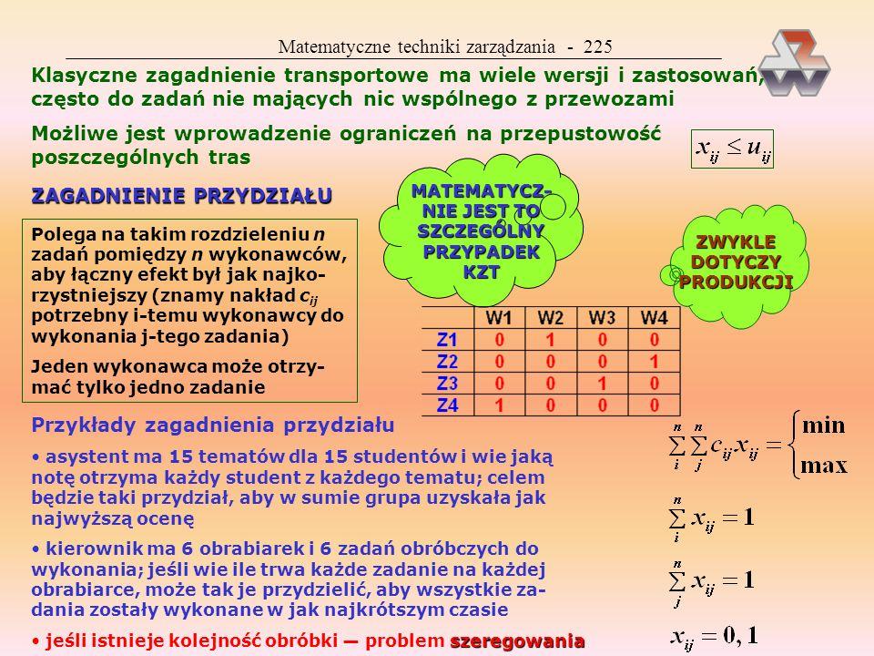 Matematyczne techniki zarządzania - 225