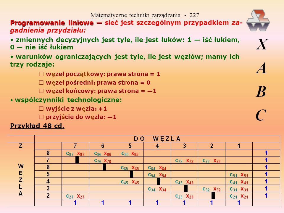 Matematyczne techniki zarządzania - 227