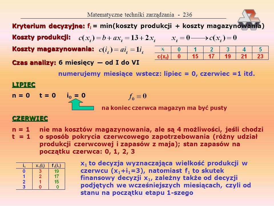 Matematyczne techniki zarządzania - 236