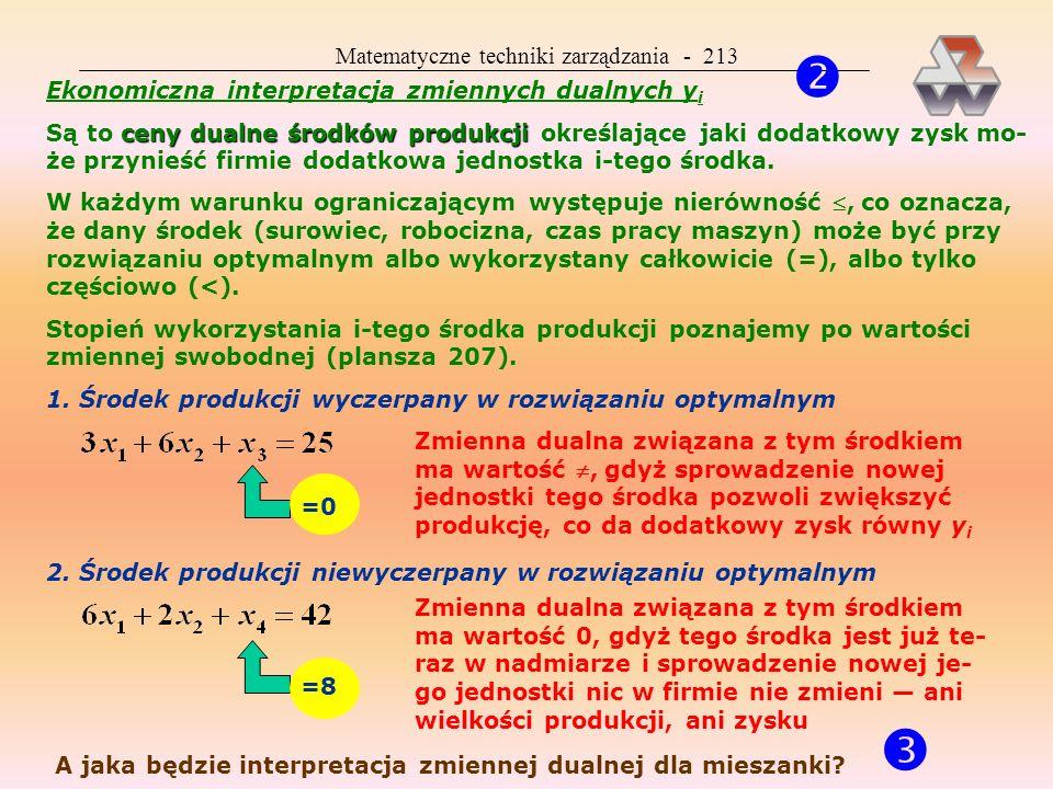   Matematyczne techniki zarządzania - 213