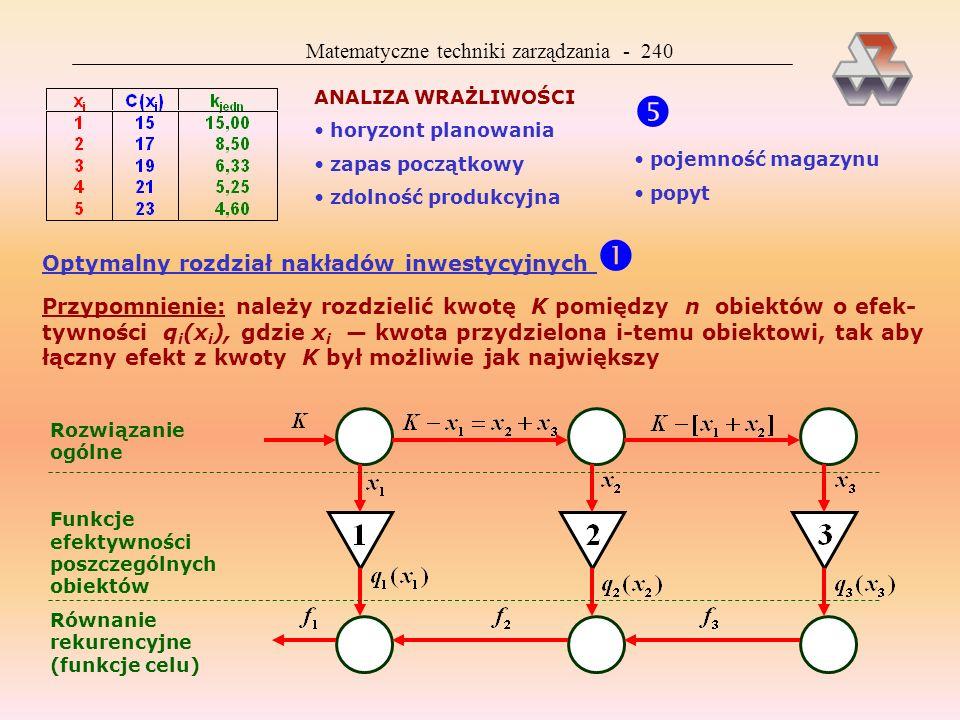  Matematyczne techniki zarządzania - 240