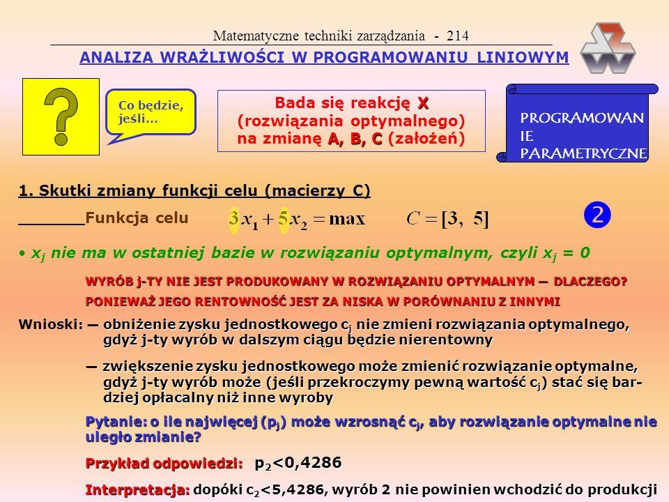  Matematyczne techniki zarządzania - 214