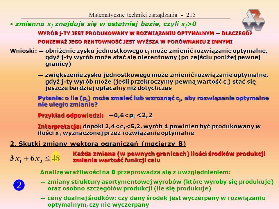  Matematyczne techniki zarządzania - 215