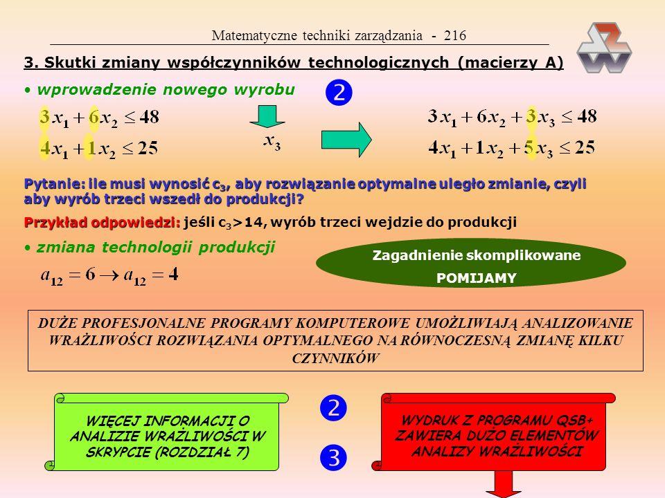    Matematyczne techniki zarządzania - 216