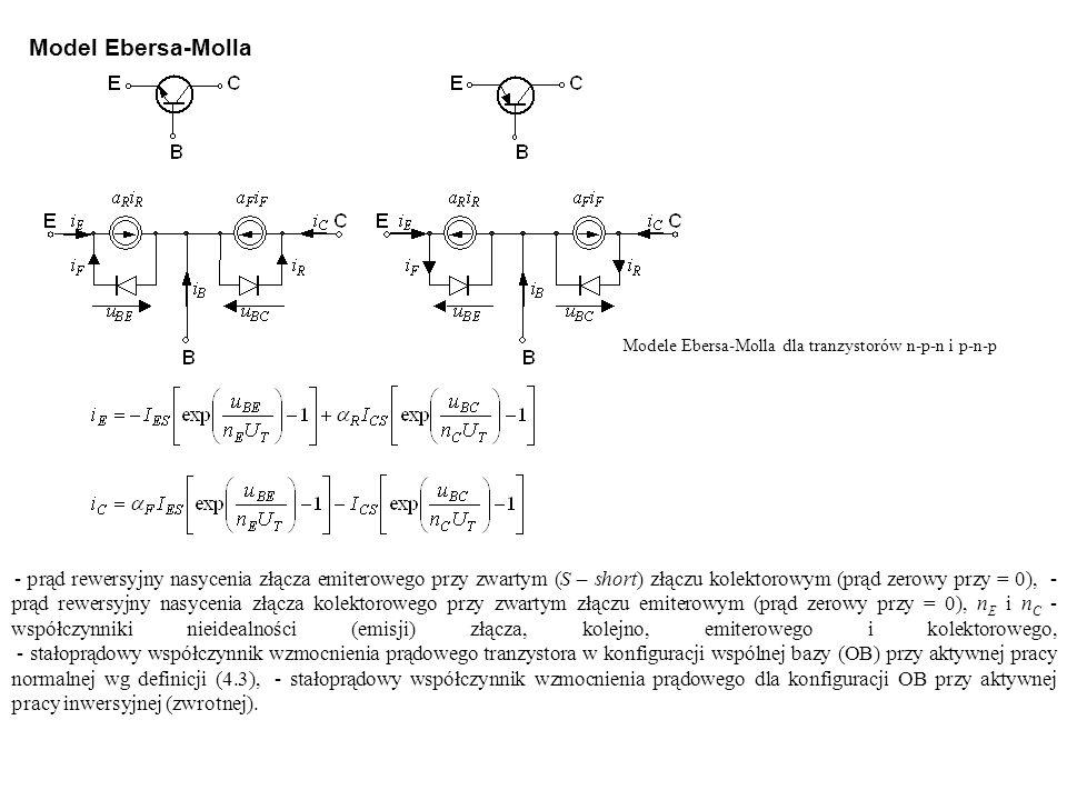 Modele Ebersa-Molla dla tranzystorów n-p-n i p-n-p