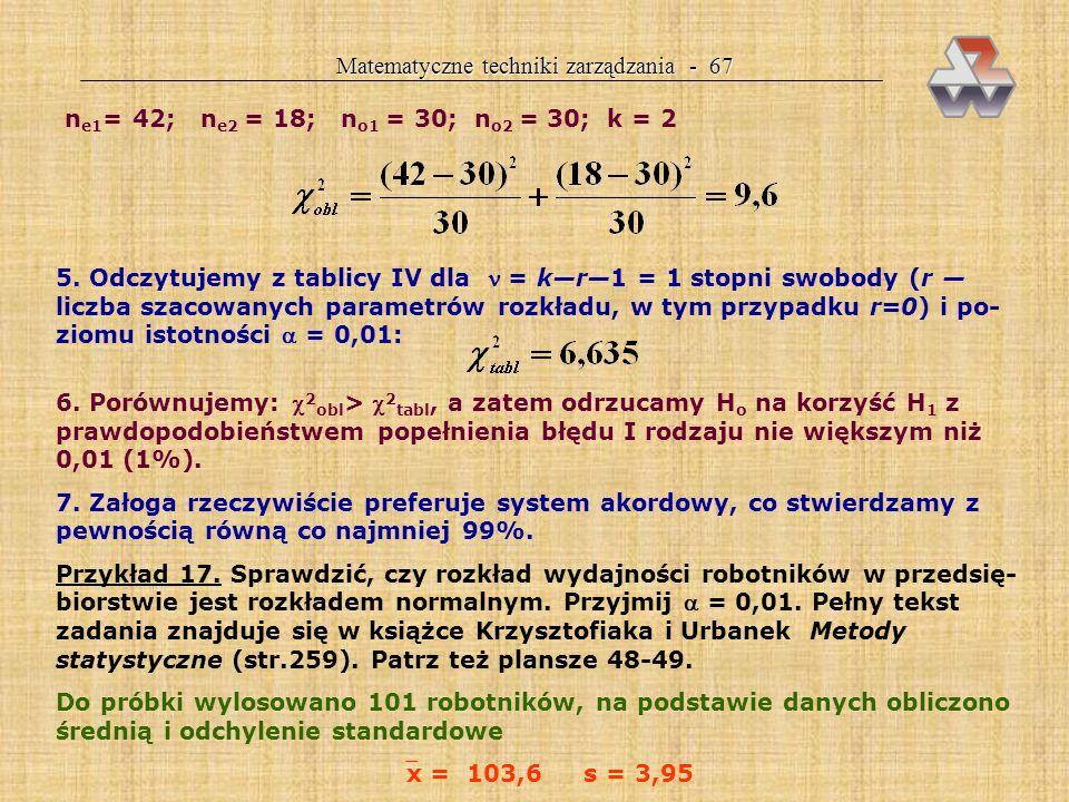 Matematyczne techniki zarządzania - 67
