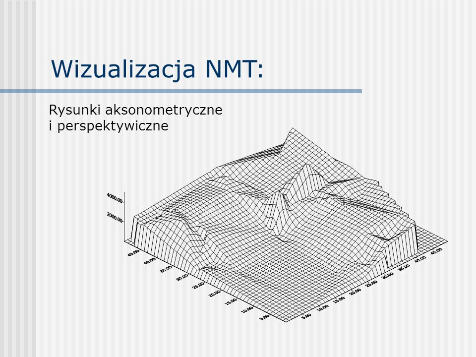 Wizualizacja NMT: Rysunki aksonometryczne i perspektywiczne