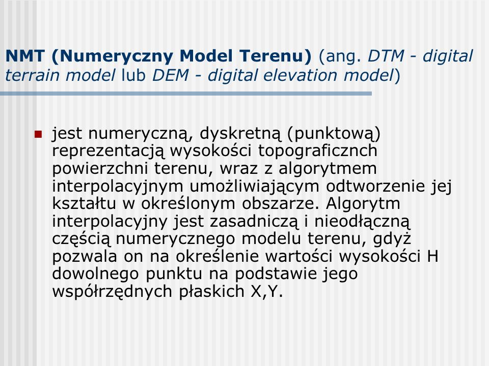 NMT (Numeryczny Model Terenu) (ang