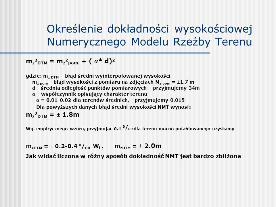 Określenie dokładności wysokościowej Numerycznego Modelu Rzeźby Terenu