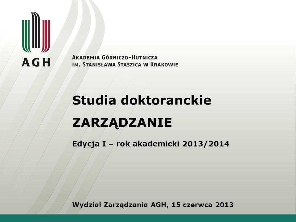 Studia doktoranckie ZARZĄDZANIE